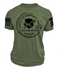 Olive Drab ReLEntless Defender Memorial Plus Sized T-shirt